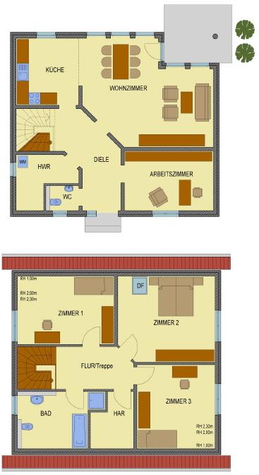 Grundriss Haus Julia