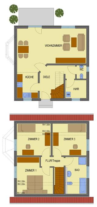 Grundriss Haus Real